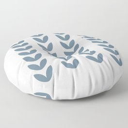 Leaf Pattern Pastel Blue - Scandinavian Floor Pillow