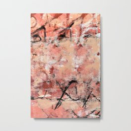011.2: a bright contemporary abstract design in pinks black and white by Alyssa Hamilton Art Metal Print
