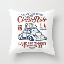 The Classic Ride L.A. California Throw Pillow