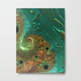 Cool Creamsicle - Fractal Art Metal Print