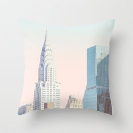 New York City Gradient Throw Pillow