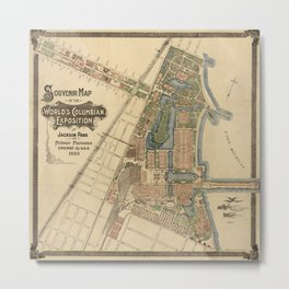 Chicago World Exposition 1893 Metal Print