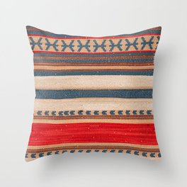 Bohemian Traditional Moroccan Style Artwork Throw Pillow