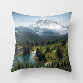 Mountain, Scenic, Eunice Lake, National Park, Parks 2016 Throw Pillow