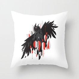 Crow Escape Throw Pillow