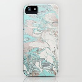 Marble - Mint iPhone Case