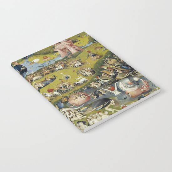 THE GARDEN OF EARTHLY DELIGHT - HEIRONYMUS BOSCH Notebook ...Bosch Garden Of Earthly Delights Outside
