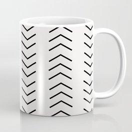 mudcloth pattern white black arrows Kaffeebecher