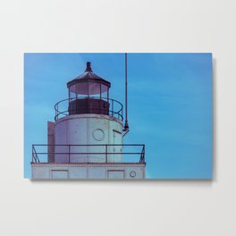 Lantern Room Manitowoc Breakwater Lighthouse Lake Michigan Light Station Wisconsin Metal Print