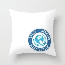 Intergalactic Space Command Logo 2 Throw Pillow