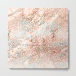 Silver Rose Gold Fusion Metal Print