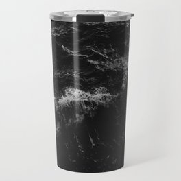 Dark Ocean in Black and. White Travel Mug