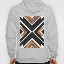 Urban Tribal Pattern No.1 - Concrete and Wood Hoody