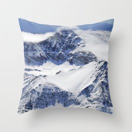 """Big mountains"". Aerial photography Throw Pillow"
