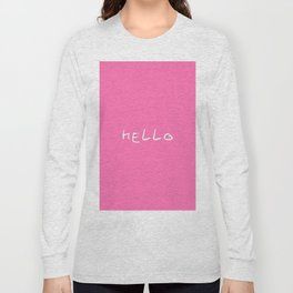 hello 3- pink Long Sleeve T-shirt