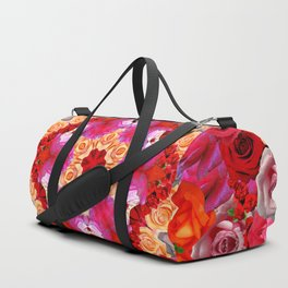 Roses in the Round Duffle Bag