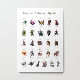 Monster Alphabet Metal Print