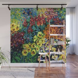 Spring Flower Garden, Pansies, Iris, Tulips, and Lilies still life by Emil Nolde Wall Mural