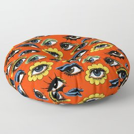 60s Eye Pattern Floor Pillow