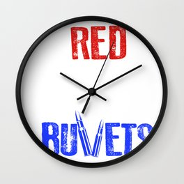 Red White And Bullets 4th Of July Wall Clock