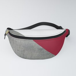 Concrete Burgundy Red White Fanny Pack