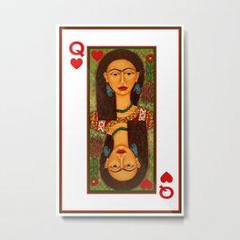 Frida Kahlo, reina de corazones Metal Print