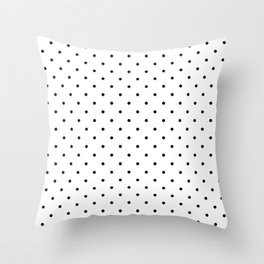 White & Black Polka Dots  Throw Pillow