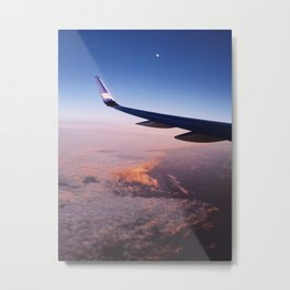 Flying Towards the Midnight Sun Metal Print