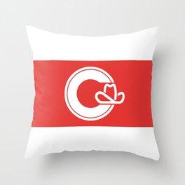 Flag of Calgary Throw Pillow