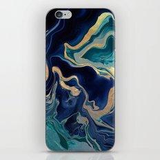 DRAMAQUEEN - GOLD INDIGO MARBLE iPhone Skin