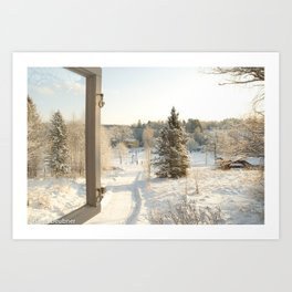 Finland in the winter - Fiskars Artist Village Art Print