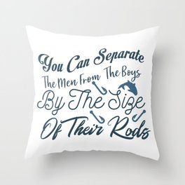 This is a Perfect Gift, Present or Souvenir for The Fishers. Throw Pillow