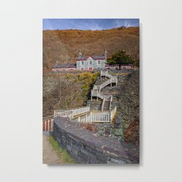 Hospital Steps at Llanberis Quarry Metal Print