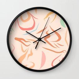 Body Love - line drawing Pattern #Matisse Wall Clock