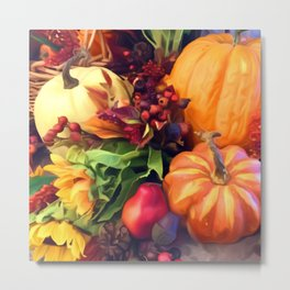 Pumpkin Profusion Metal Print