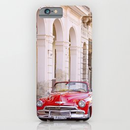 Vintage Red Car, Havana Travel Photography iPhone Case