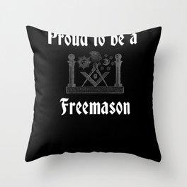 Proud To Be A Freemason Throw Pillow