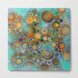 Abstract Circles Pattern Metal Print