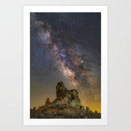 Milky Way over Trona Pinnacles Art Print