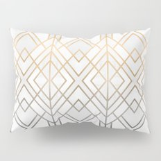 Gold And Grey Geo Pillow Sham