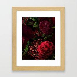 Vintage & Shabby Chic - Vintage & Shabby Chic - Mystical Night Roses Framed Art Print
