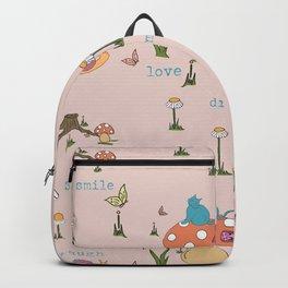 Joyful Mushroom - Love, dream, laugh, smile Backpack