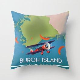 Burgh Island, south devon Throw Pillow