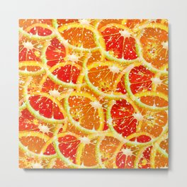 Snow citrus Metal Print