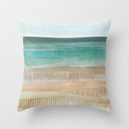 Jade seascape Throw Pillow