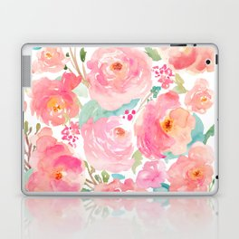 Watercolor Peonies Summer Bouquet Laptop & iPad Skin
