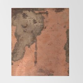 Tarnished Copper rustic decor Throw Blanket