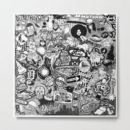 Detroit, Michigan Smorgasboard Metal Print