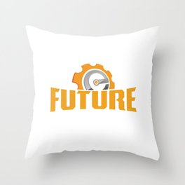 Future Engineer Cool Profession Graduating Students Gifts Throw Pillow