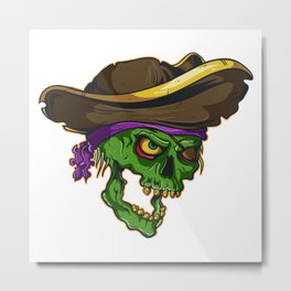 Art of a bloodthirsty pirate Metal Print